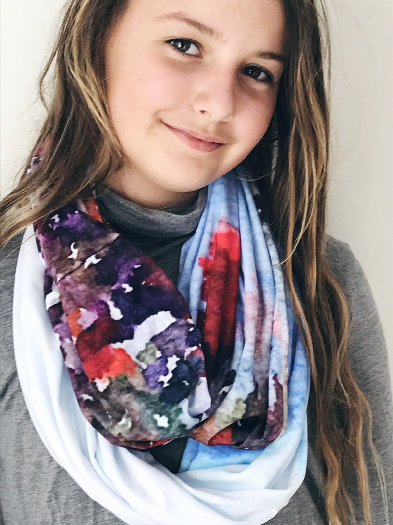 Spring Mountain Art Infinity Scarf