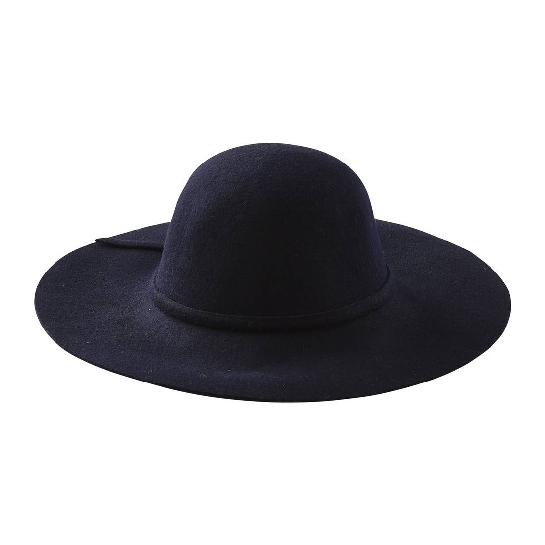 Floppy Wide Brim Wool Hat – Navy
