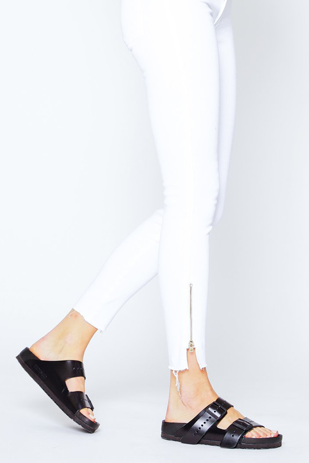 Kaia Split Zip Ankle Fray