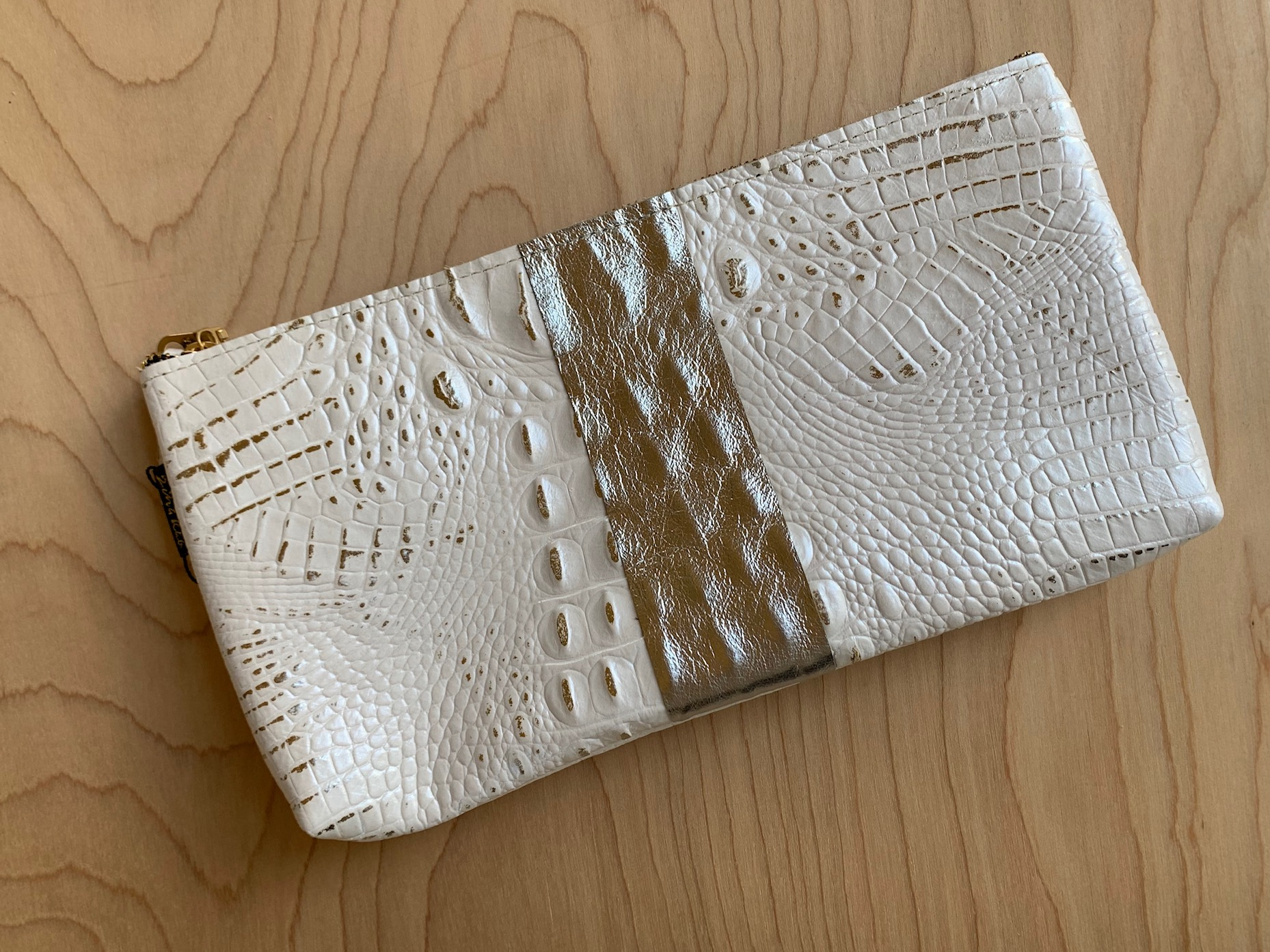 Oxford Leather Clutch – White