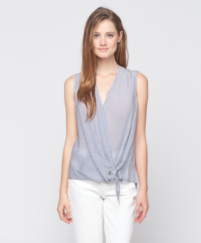 Sleeveless Surplus Tie Top