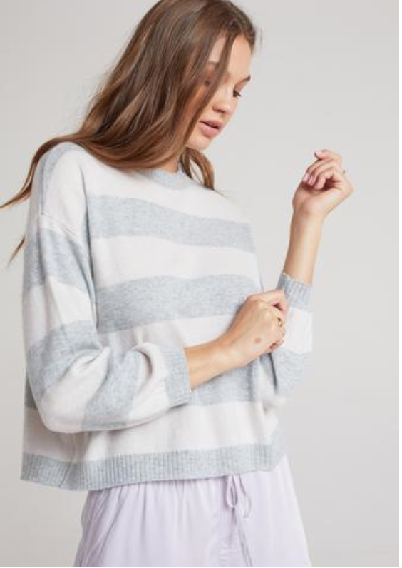 Bishop Striped Cashmere Sweater