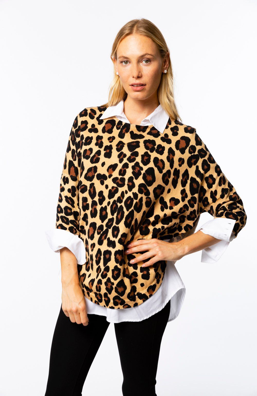 Animal Capelet In Leopard