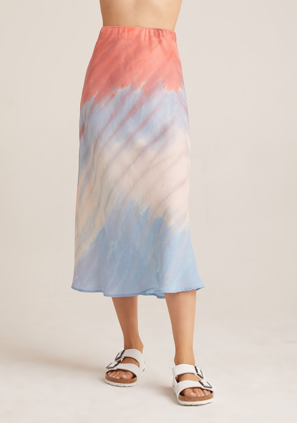 Bias Midi Skirt In Poppy