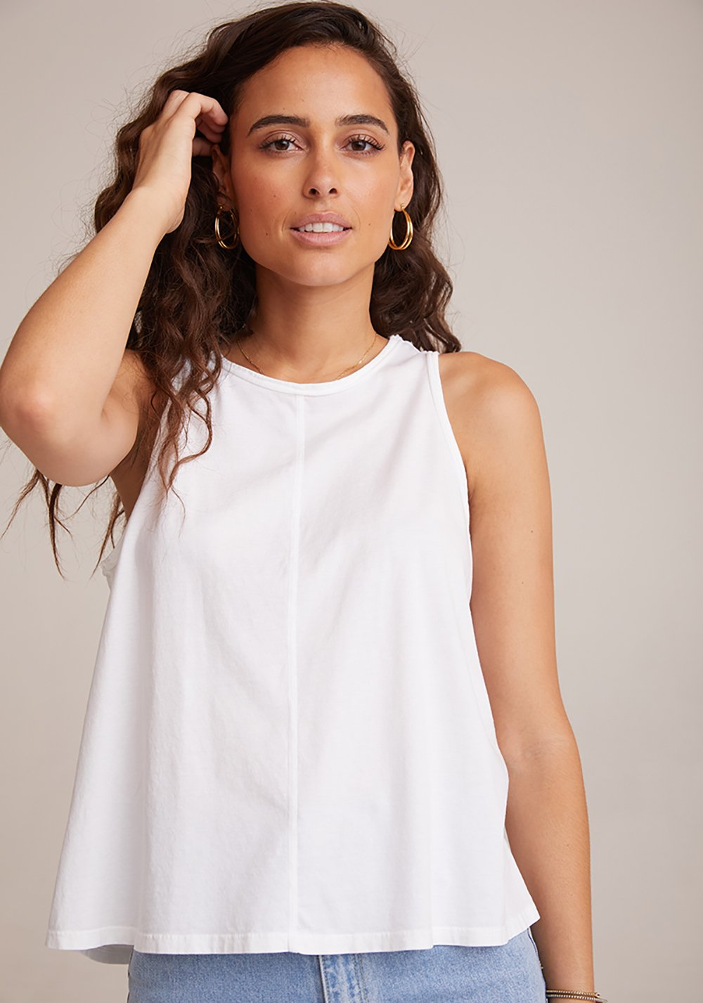 Sleeveless Raw Edge Tank