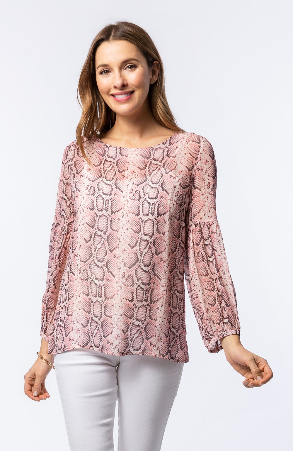 Amy Reptile Print Top