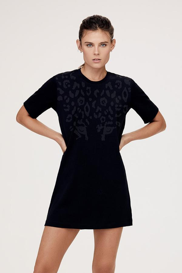 Leopard Eyes T-Shirt Dress
