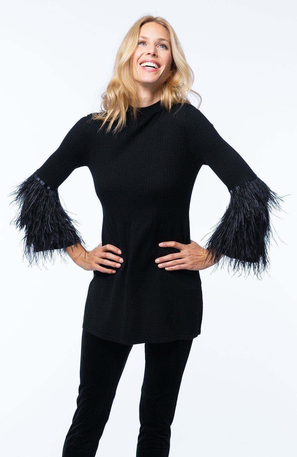 Ribbed Feather Tunic