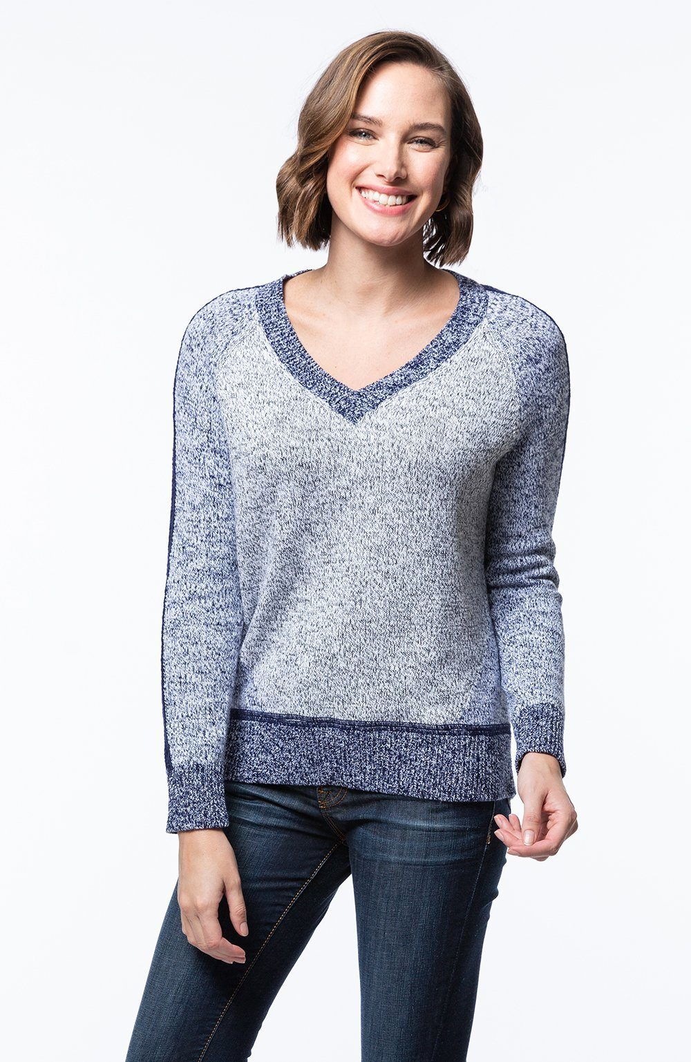 Colorblock Melange Sweater
