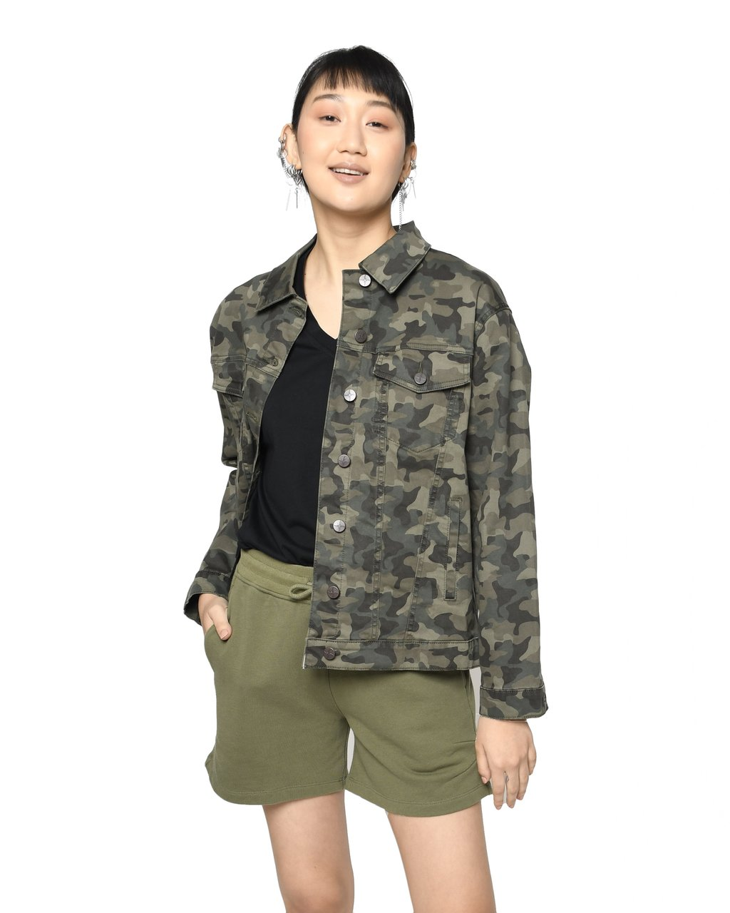 Camo Oversized Denim Jacket