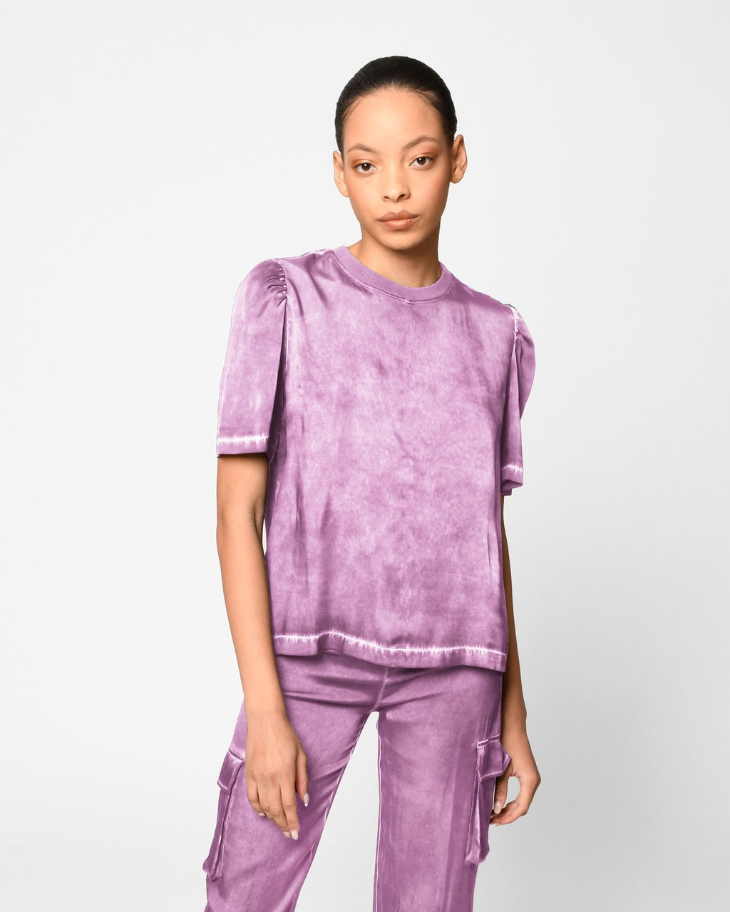 Garment Dyed Puff Sleeve T