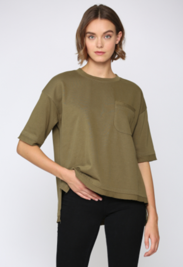 French Terry Short Sleeve Sweatshirt