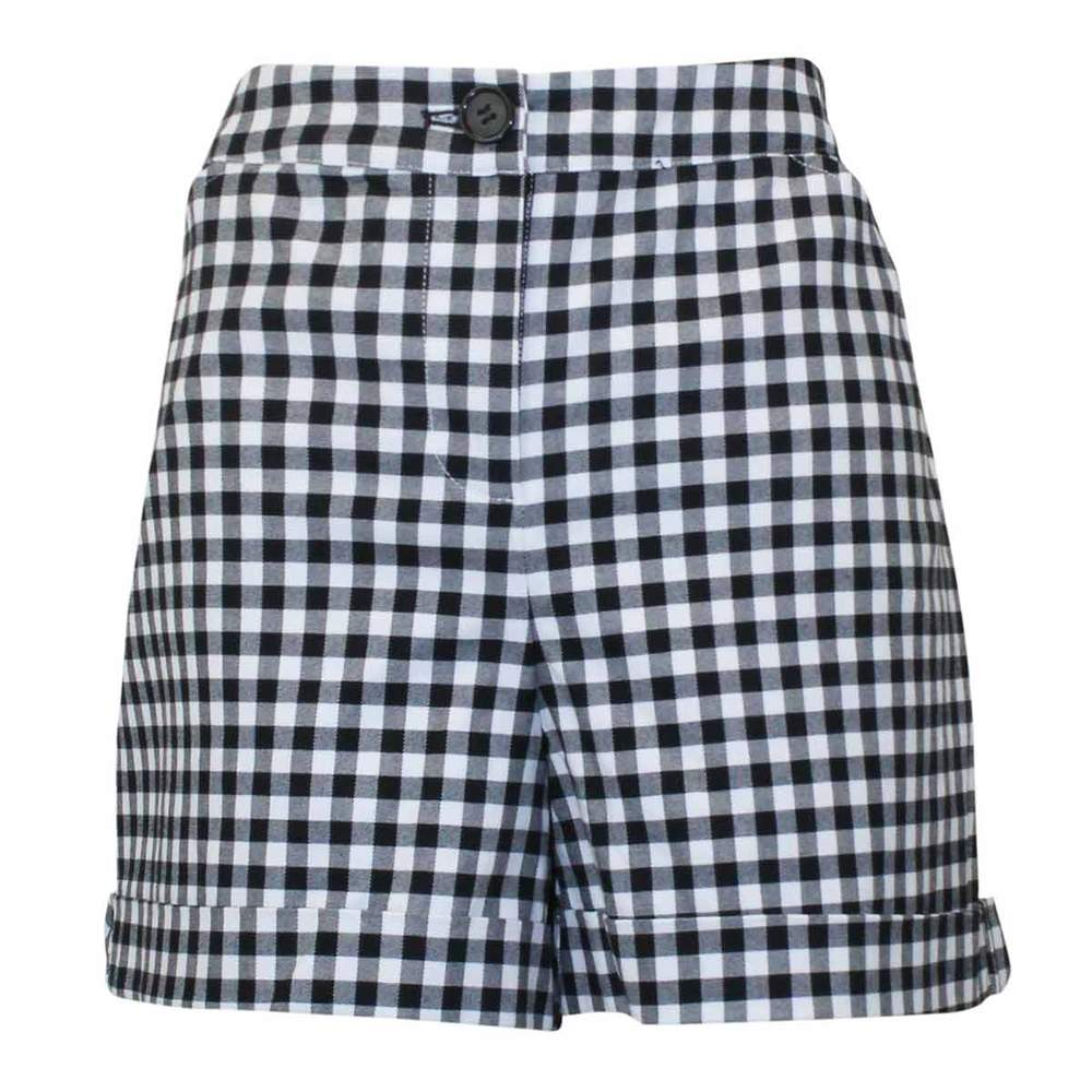 Gingham High-rise Shorts